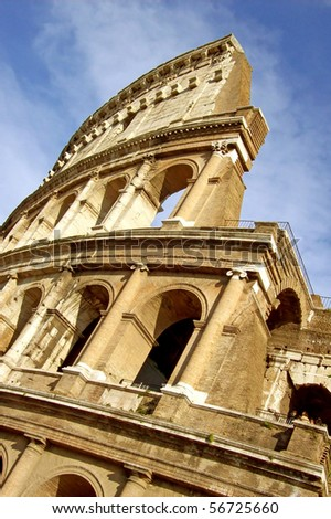 A view of the Coliseum - Rome - Italy
