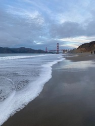 A view of the Golden Gate Bridge from Bakers Beach