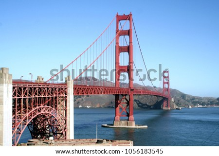 A view of The Golden Gate Brige in San Francisco, Usa #1056183545