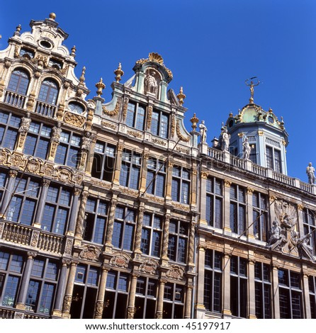 A view of the Grand Place in Brussels, Belgium. This spot is a UNESCO World Heritage site.
