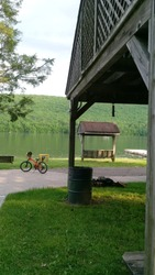 A view of the lake  Mauch Chunk. Summer time. Jim Thorpe PA.
