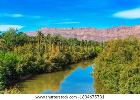 Photo of  A view of the landscape of the river Draa, Morocco