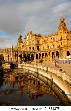 A view of the Plaza de Espana in Seville, Spain