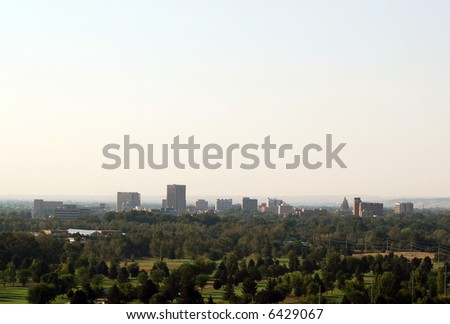 A view of the skyline of Boise Idaho