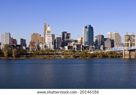 A view of the skyline of Cincinnati Ohio