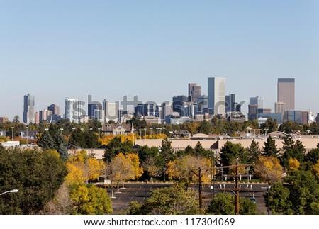A view of the skyline of Denver, Colorado.
