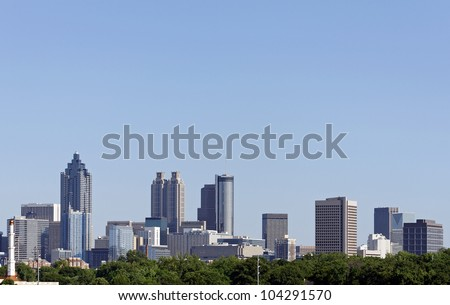 A view of the skyline of downtown Atlanta, Georgia.