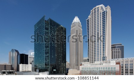 A view of the skyline of downtown Charlotte, North Carolina.