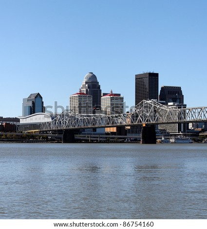 A view of the skyline of Louisville, Kentucky, from across the Ohio River.