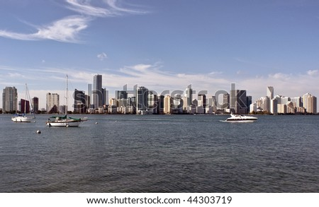 A view of the skyline of Miami Florida