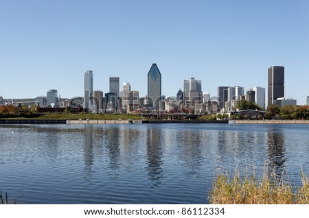A view of the skyline of Montreal, Quebec.