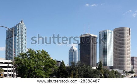 A view of the skyline of Tampa Florida
