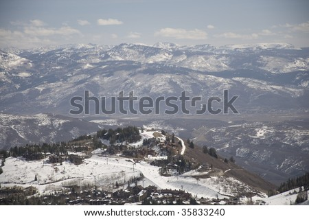 A View of the Snow Covered Mountains in Utah