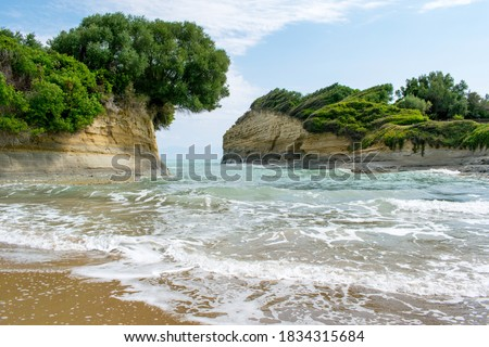 """Photo of  A view of the so-called """"Channel of Love"""" aka Canal d'Amour in Sidari town, Corfu, Greece"""