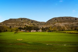 A view of the syncline of the Eglwyseg Mountain above Llangollen, Wales