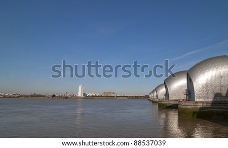 A view of the Thames flood barrier