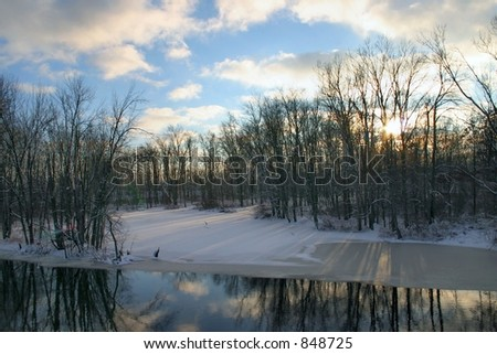 A view of the Thornapple River in Winter