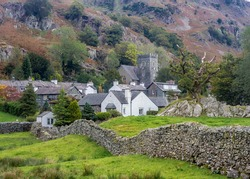 A view of the village of Chapel Stile in the English Lake District National Park.