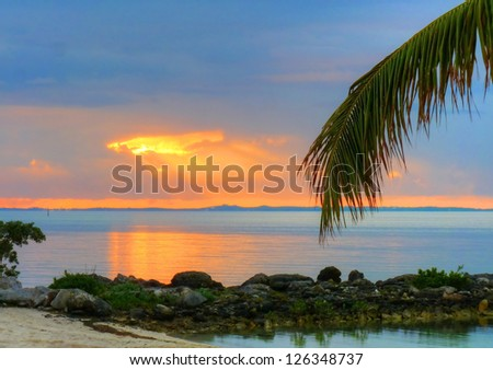 A View of the Water in Abaco, The Bahamas, at Sunrise and/or Sunset