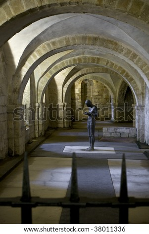 A view of the Winchester Cathedral Crypt