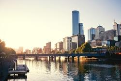 A view of the Yarra River, Melbourne, Victoria, Australia