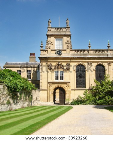 A view of Trinity College, Oxford University, UK