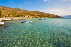 A view on beautiful Psili Ammos beach on Samos island in Greece