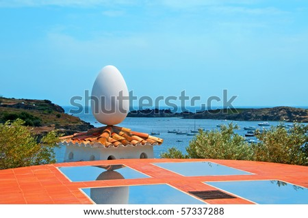 A view over the bay in Portlligat, Cadaques, Spain