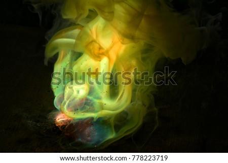 A vigorous chemical reaction resembling an explosion.
