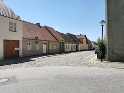 A village street in East Germany