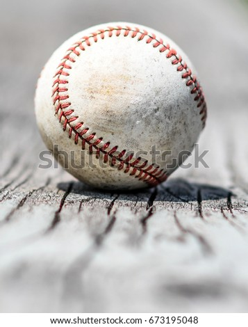 a vintage baseball on a...