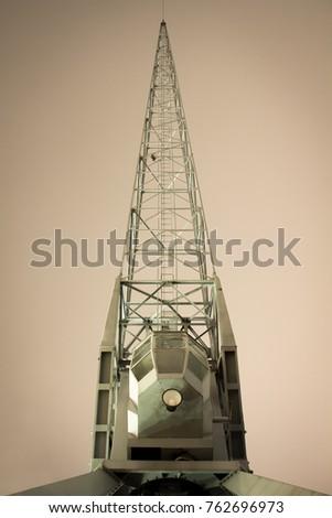 a vintage crane in hamburg...