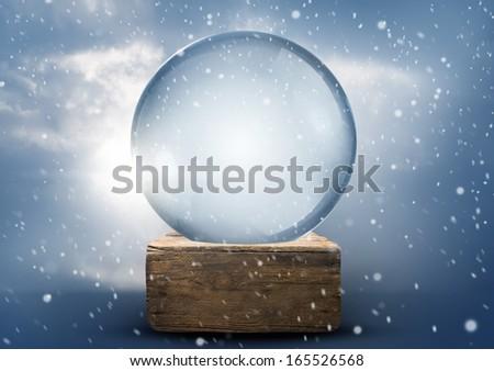 a vintage empty christmas snow...