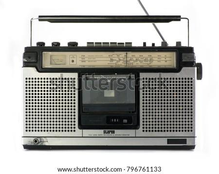 a vintage hifi ghettoblaster stereo