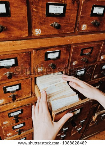 a vintage library catalog  for...