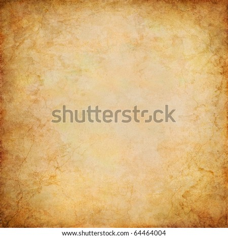 A vintage paper background with grunge patterns and textures.