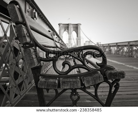 a vintage park bench on the...