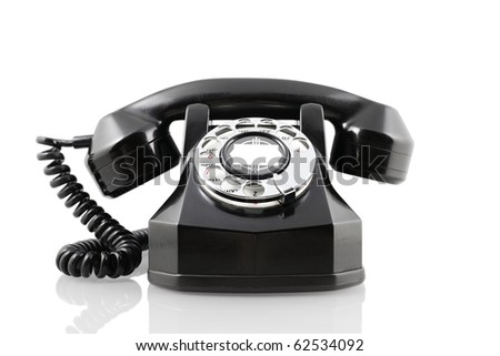 A vintage 1940-s Automatic Electric rotary telephone isolated on white