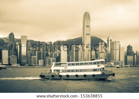a vintage shot of a ferry...