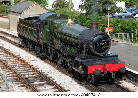 A Vintage steam train on the Dart Valley line, South Devon