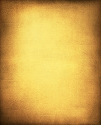 A vintage, textured golden yellow paper and cloth background with a subtle screen pattern and vignette.