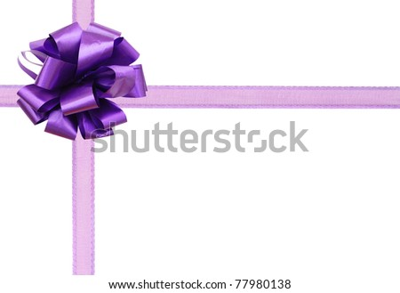 A violet bow gift background