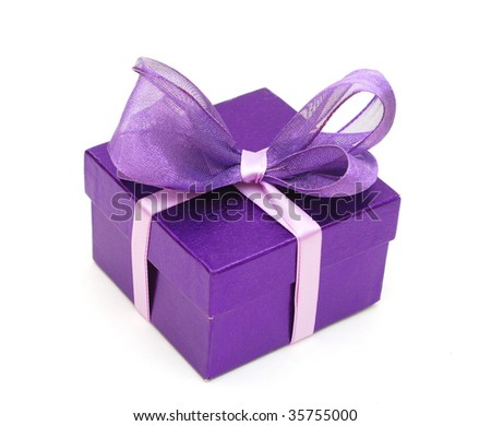 a violet gift box
