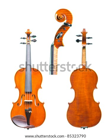 a violin, isolated on white