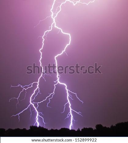 A Vivid Flash Of Lightning