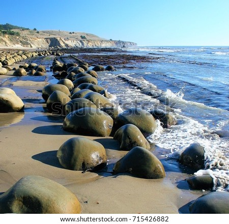 A walk along the sand at Bowling Ball Beach in Mendocino county