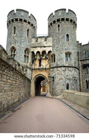 A walkway in Windsor Castle, England, Great Britain