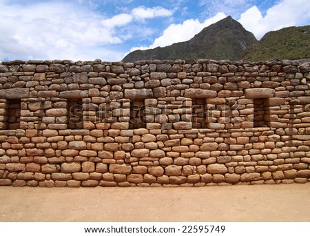 from Considered one of windows, machu jig-saw puzzle Machu+picchu+wall