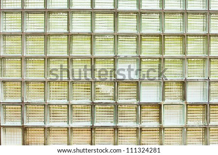 A wall of glass bricks as a background image