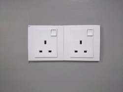 A wall point plug for domestic housing